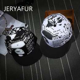huge discount 70b90 5ed83 JERYAFUR 2018 New Hot Sun Hats Flat Hip-hop Caps Men and Women Clean Baseball  Cap Wholesale Letter Graffiti Snapback Hats