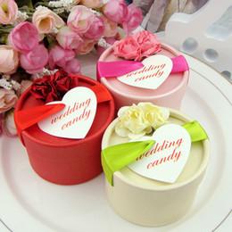 desserts roses Promotion Mode Mariage Faveur Boîte De Bonbons Avec Dentelle Fleur Décor Chocolat Papier Dessert Boîtes D'emballage Roses Champagne Cadeau Sacs Vente Chaude 0 72wk AA