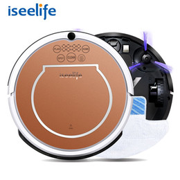 Wholesale Wet Dry Auto Vacuum Cleaner - 2017 Iseelife Wet Robot Vacuum Cleaner For Home 2 In1 Pro2s Mop Dry Wet Water Tank 800pa Auto Cleaning Smart Robot Aspirador