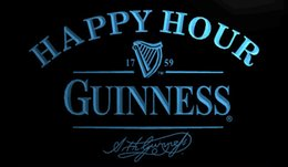 free beer signs Australia - ls1273-b-Guinness-Happy-Hour-Beer-Bar-Neon-Light-Sign Decor Free Shipping Dropshipping Wholesale 8 colors to choose