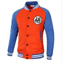 Wholesale Dragon Ball Z Goku Costume - 2018 Anime Winter Coat Dragon Ball Z Son Goku Thicken Jacket New style men women Unisex Fleece Sweater Hoodies