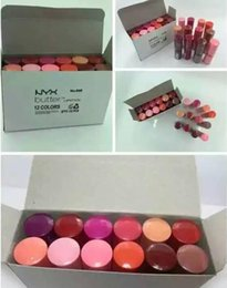 Wholesale professional makeup prices - Free Shipping ePacket 12 Colors women NYX Butter lipstick factory price Long Lasting Lip Gloss Professional Makeup NYX Butter Liptstick