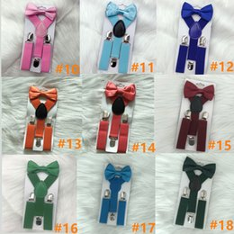 2019 pajarita dhl 23 colores Kids Suspenders pajarita Set para 1-10T bebé apoyos elásticos Y-back Boys Girls Suspenders accesorios 23 colores envío libre de DHL rebajas pajarita dhl