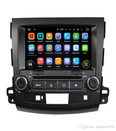 Wholesale Mitsubishi Car Stereo Gps - Best sale RAM 4g Octa Core Android 8.0 Car DVD Player For Mitsubishi Outlander 2006-2012 Headunit GPS Navigation 2 Din Car Stereo GPS WIFI