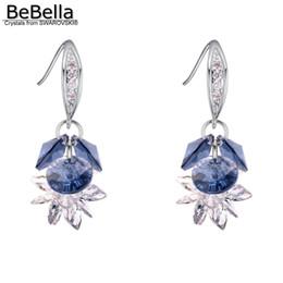 araña multicolor Rebajas BeBella Edelweiss colgante de gota de flores colgantes pendientes Cristales de Elements joyería de moda para mujer regalo de niña 2018