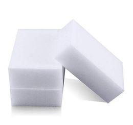 Волшебная чистая губка онлайн-White Magic Eraser Sponge удаляет грязь, мыло, накипь с мусора для всех типов поверхностей Универсальная чистящая губка для дома Авто