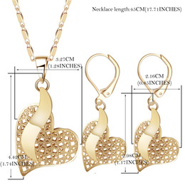 Wholesale African Jewelery - OUMEILY Heart Necklace Sets For Women Nigerian Wedding African Beads Jewelry Set Gold Color Luxury Bridal Jewelery Costume