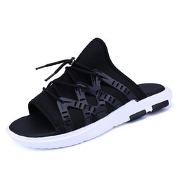 Wholesale Sneaker Cover - Summer mens shoes men sandals slippers for man. black,black-white,the size 39-44, light-weight shoes sneakers beach shoes