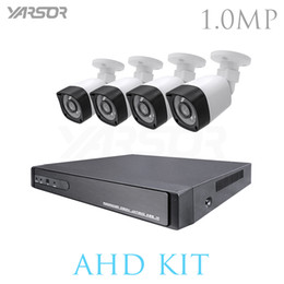 Wholesale Wired Ir Cameras - 4CH CCTV System 720P 5 IN 1 HDMI AHD CCTV DVR 4PCS 1.0 MP IR Outdoor Security Camera Surveillance Kit DVR Kits