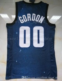 Wholesale print basketball jersey - Stitched Navy Blue City 00 Aaron Gordon Jersey Top Quality Printed White Blue Aaron Gordon Jersey Men Basketball Free Shipping