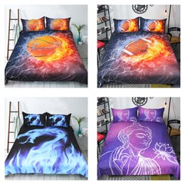 Wholesale Pink Full Comforter - 3D Bedding Set Rugby & Basketball Sport 6 Pattern Polyester Home Textiles King Queen Full Duvet Cover Mix Order