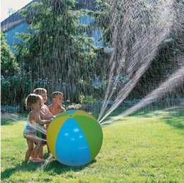 Wholesale Sprinkler Toys - HOT Inflatable Beach Water Ball Outdoor Sprinkler Summer Inflatable Water Spray Balloon Outdoors Play In The Water Beach Ball free ship