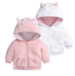 Canada Bébé mignon polaire capuche tops manteau hiver 2018 boutique de bébé vêtements infantile bambin garçons filles couleur unie chaude fermeture à glissière survêtement Offre