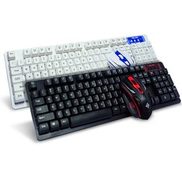 2019 clavier d'ordinateur d'origine Original Clavier Sans Fil 2.4GHz et Souris Pro Gaming Keyboard Mécanique Feeling Office Keyboard Clavier pour PC Ordinateur Portable promotion clavier d'ordinateur d'origine