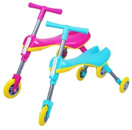 Wholesale Baby Tricycles - Children Bike Portable Foldable Indoor Outdoor Toddlers Glide Tricycle Trike Baby Walker Bike