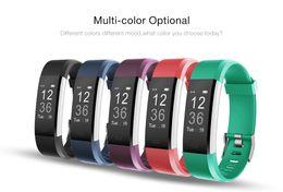 Pulseras para celulares online-ID115 Plus Pulseras Inteligentes Banda Monitor de Ritmo Cardíaco Sleep Fitness tracker Pulsera Smartband Pulsera para teléfonos celulares con Android IOS