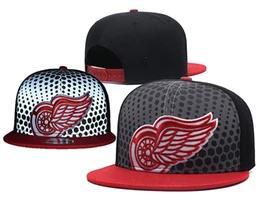 Детройтская хоккейная команда онлайн-Новый мужской Детройт черный топ красный цвет хоккей Snapback шляпы команда логотип вышивка Спорт регулируемая хоккей шапки светоотражающие Бейсбол шляпа