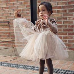 Vestido dorado brillante de manga larga online-Otoño Bebé Niñas de terciopelo dorado Vestido de Princesa Vestido de Los Niños Brillo de plata Vestido de Fiesta de Malla de Manga Larga Niños Cosplay de Halloween Ropa