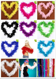 Wholesale Wholesale Pink Boas - Pink Chandelle Feather Boa 200cm Wrap Burlesque Can Can Saloon Sexy Costume Accessory Turkey Marabou Feather Boa