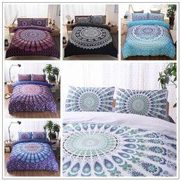 Wholesale 3d Printed Duvets - 5 Colors 3D Bedding Sets Queen Size Bohemian Mandala Bedding Quilt Duvet Cover Set Sheet Pillow Cover Bedding Set Gifts CCA9053 5set