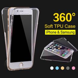 Caso claro da parte traseira da parte traseira do iphone on-line-360 graus de proteção completa tpu transparente frente clara e tampa traseira casos de telefone para iphone xr xs max 6 s 7 8 plus samsung