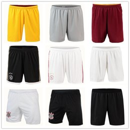 Shorts de foot everton en Ligne-Napoli shorts Football 2018 2019 Pantalons corinthiens de football Schalke Boca juniors LA Galaxy futbol culotte lit de rivière Ajax Short de football d'Everton