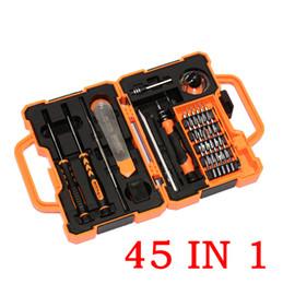 2019 kit di strumenti elettronici di riparazione JAKEMY JM-8139 45 in 1 Kit cacciavite preciso Kit di riparazione Strumenti di apertura per il computer portatile Manutenzione elettronica HHA4 kit di strumenti elettronici di riparazione economici