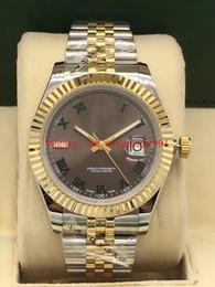 Argentina Hombres reloj de alta calidad Datejust 41 MM 126333 126333-0020 esfera gris 18K oro amarillo asiático 2813 movimiento automático Relojes para hombre Suministro