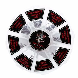 bobina de atlantis rba Desconto 100% Autêntico Kit Assassino Demônio Bobina 8 em 1 Quadril Colmeia Torcida Fusível Clapton Bobina Algodão Orgânico fit Atomizador 48 pçs / caixa