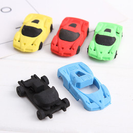 stationery rubber set Promo Codes - 2pcs set Cute Car Shape Eraser Mini Cute Rubber Kawaii Stationery Material Escolar Kids Gifts School Office Correction Supplies