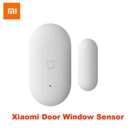 capteurs de fenêtre Promotion Pas cher Télécommande intelligente 100% Xiaomi Porte Fenêtre Capteur Taille De La Poche De Poche xiaomi Smart Home Kits Système D'alarme fonctionne avec Gateway