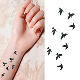 Tatuagem temporária impermeável para pássaros on-line-2018 Moda Pulso Flash Tatuagem Falsa Tatuagem Aves Design À Prova D 'Água Etiqueta Temporária Para A Arte Do Corpo Das Mulheres Tatuagens De Carne