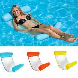 Camas flotantes online-Nuevas piscinas de verano inflable flotante de agua hamaca salón cama silla de verano inflable piscina flotante cama flotante WX9-593