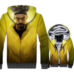 heisenberg hoodie UK - Breaking Bad Jacket Heisenberg Hoodies Men Walter White Sweatshirt Winter Thick Fleece 3D Print Coat Hip Hop Streetwear Homme