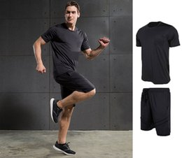 Wholesale Workout Clothes For Men - Brand Sportswear men's gym workout clothes quick dry fitness training tracksuits 2pcs jogging basketball running suits for men