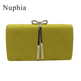 Замшевые желтые сумочки онлайн-Nufia замша вечерние клатчи и Партии вечерние сумки для женщин желтый королевский синий оранжевый красный фиолетовый Y18103004
