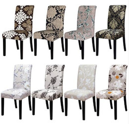 Wholesale machine prints - Factory Spandex Stretch Dining Chair Coves Machine Washable For Restaurant Weddings Banquet Hotel Chair Cover fundas de sillas elasticas
