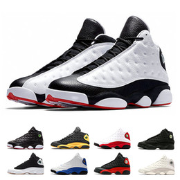 low priced b0a81 b4f53 Nike Air Jordan Retro 13 AJ13 He Got Game zapatos de baloncesto para hombre  Phantom gato negro Chicago criado Melo Clase de 2003 Hyper Royal zapatillas  ...