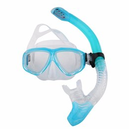 Wholesale Diving Equipment Set - Professional Silicone Diving Mask Snorkel Anti-Fog Goggles Glasses Breathing Tube Set Swimming Snorkeling Equipment Wholesale