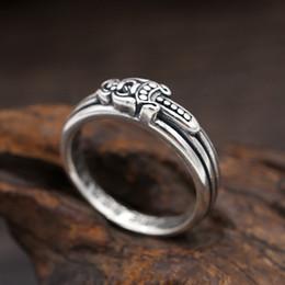 Nova marca de prata esterlina 925 designer de jóias vintage americano europeu hand-made designer de prata antigo anel de banda espada para mulheres dos homens de