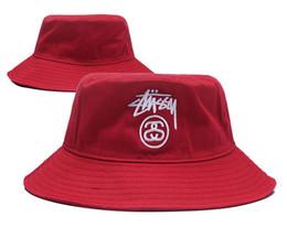 Wholesale new bowler - New Fashion 2018 bucket cap Foldable Fishing Caps Stu Bucket cap Beach Sun Visor Sale Folding Man Bowler Cap For Mens Womens good quality