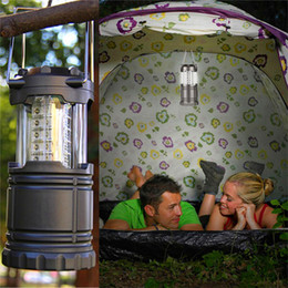Discount lanterns for christmas - LED camping lantern lamp outdoor collapsible lantern emergency Flashlights Portable Black Collapsible For Hiking Camping Halloween Christmas