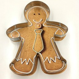 Wholesale Gingerbread Man Wholesale - Christmas Cake Tools Alloy Gingerbread Men Cake decorating tools biscuit Kitchen fondant Kitchen Accessories mold