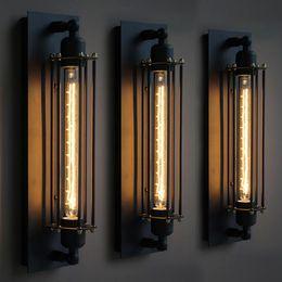 luz nocturna de escaleras Rebajas Loft Lámparas de pared vintage Luz de pared industrial americana Edison T30 E27 Bed-lighting Lámpara de pared Lámparas de pared Iluminación para la decoración del hogar