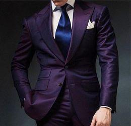 Vente Homme Promotion Costume Rayures Pourpre À wvnxRfHq7