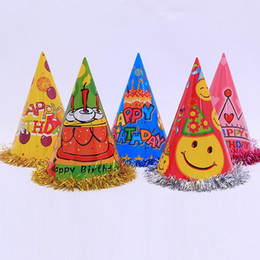 Мультфильм принцесса принц онлайн-Birthday Hat Cartoon Prince Princess Paper Caps Children Headwear Birthday Hat Party Christmas New Year
