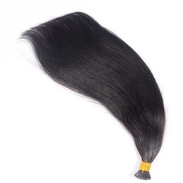 Wholesale Stick I Tip Wholesale - Natural Color 14 16 18 20 22 24 Inch Stick I tip in hair Malaysian Straight Keratin Hair Extensions 0.9g s&180g one Lot Hair