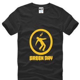 зеленая полоса дня Скидка Рок-группа Green Day печатных футболки мужчины с коротким рукавом o шеи хлопок мужская футболка лето панк-рок футболка Homme вентиляторы одежда
