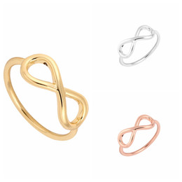 Wholesale Infinite Gifts - 10pcs lot infinite knuckle rings,infinity pinky rings,infinity rings,eternity rings,jewelry rings,anniversary ring,knuckl JZ002