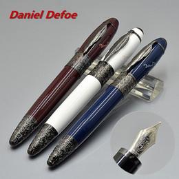 360 bateria on-line-Top Quality Edição limitada Daniel Defoe Canetas Luxo 4810 Médio tamanho 14k NIb Caneta Clássica com Marcas MB Número Serial 0301/8000
